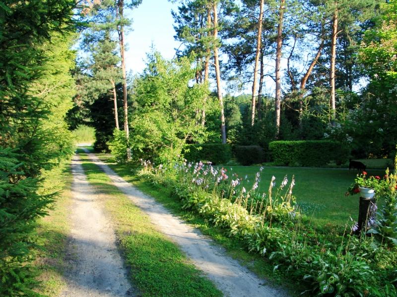 Ogród, staw i rzeka